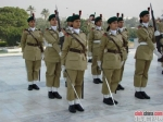 Pakistan Army Female Cadets on Guard at the Jinnah Mausoleum